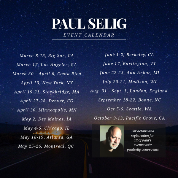 Paul Selig Schedule